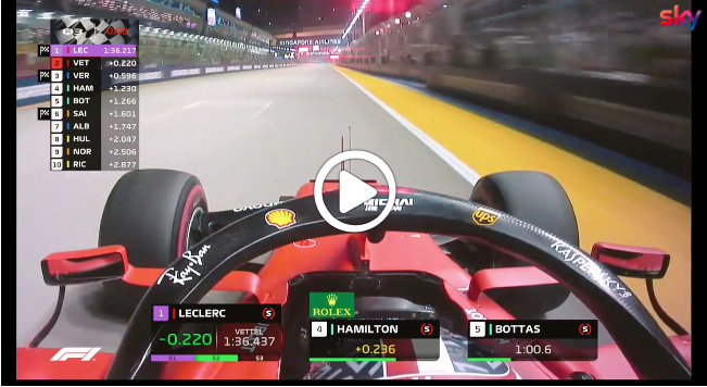 Formula 1 | GP Singapore, Leclerc al limite: il giro della pole a Marina Bay [VIDEO]