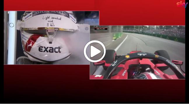 F1   Caldo a Singapore, Verstappen e il getto di aria gelida sul casco [VIDEO]