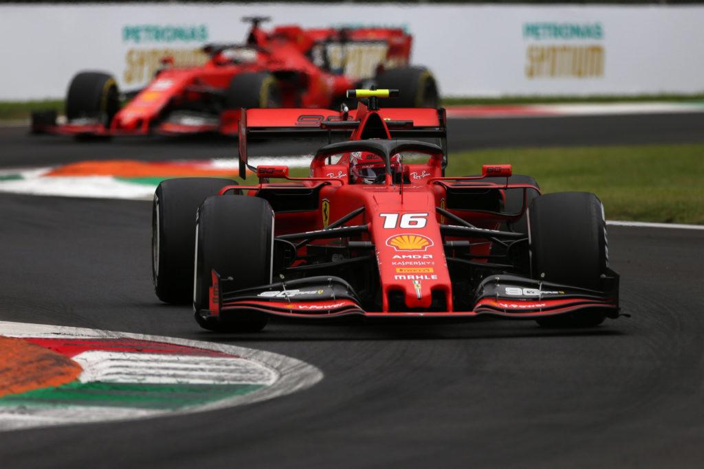 F1: ds Ferrari, Leclerc