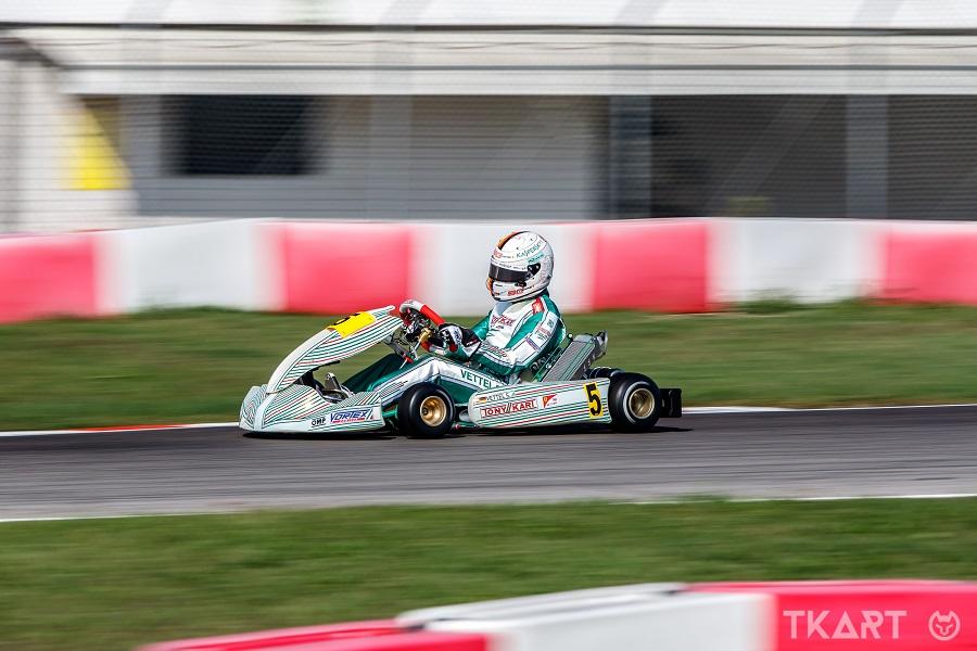 F1 | Vettel in pista a Lonato con il Tony Kart Racing Team