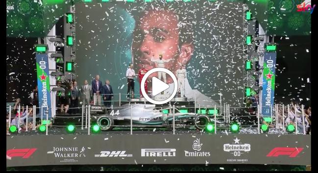 Formula 1 | Hamilton protagonista della 'fiesta' in Messico: titolo a soli quattro punti [VIDEO]