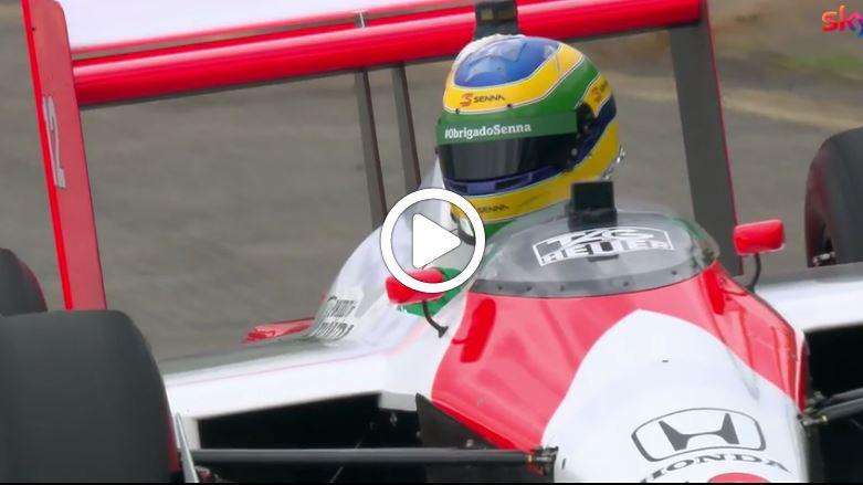 F1 | GP Brasile, Bruno Senna in pista con la MP4/4 [VIDEO]