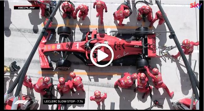 Formula 1   GP USA, Leclerc beffato da una pistola durante il suo primo stop [VIDEO]