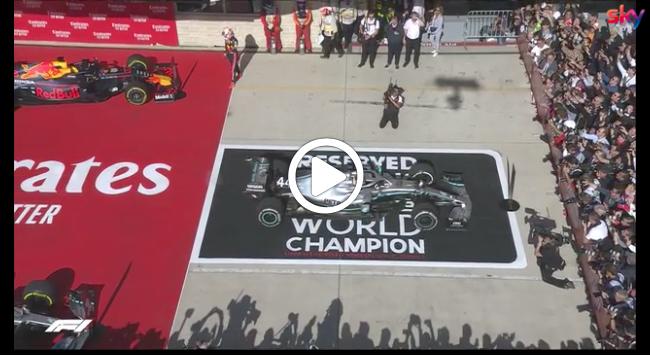 F1 | GP Stati Uniti, Hamilton sul tetto del mondo: la festa in parco chiuso [VIDEO]