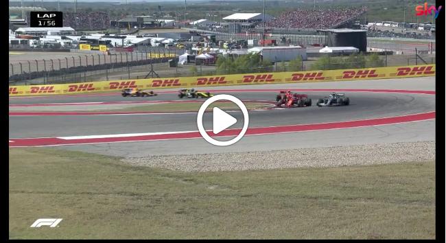F1 | Bottas mantiene la leadership, Vettel affonda: la partenza dell'ultimo GP degli Stati Uniti [VIDEO]