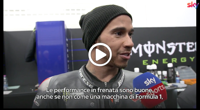"F1-MotoGP, Hamilton analizza le differenze: ""La frenata è molto diversa"" [VIDEO]"
