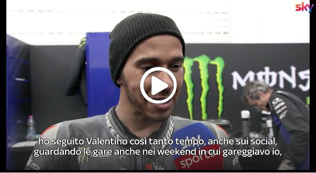 """Hamilton sul primo test in sella a una MotoGP: """"Un sogno che si è avverato"""" [VIDEO]"""