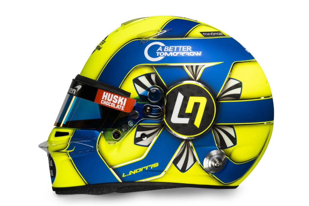 Caschi Sainz e Norris - McLaren MCL35