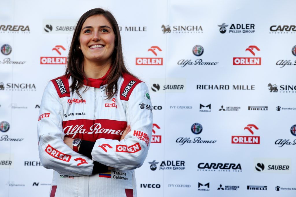 F1 | Tatiana Calderon test driver e ambasciatrice dell'Alfa Romeo Racing