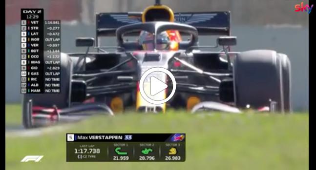Formula 1 | Test Barcellona Verstappen in azione al Montmelò con la RB16 [VIDEO]
