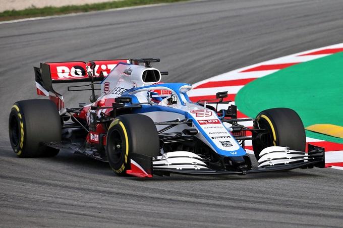 F1   Williams: le prime immagini della FW43 in pista a Barcellona