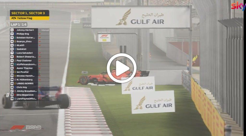 F1 | GP Bahrain virtuale, la partenza caos [VIDEO]