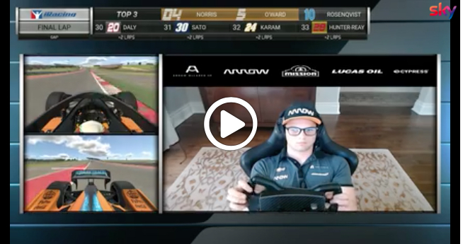 IndyCar iRacing | Austin, l'ultimo giro di Norris [VIDEO]