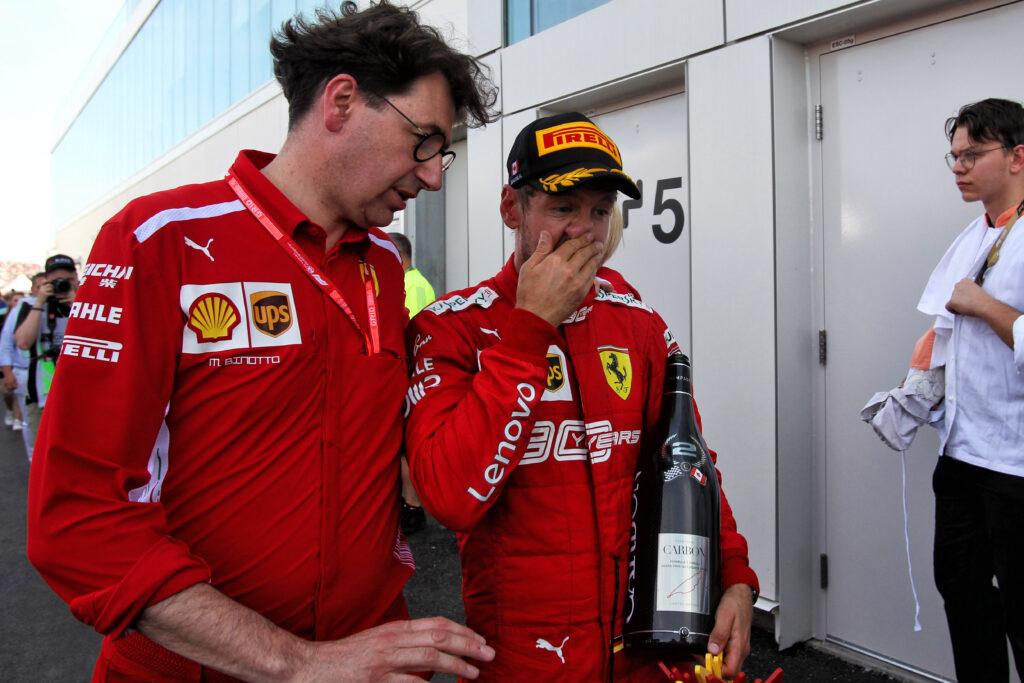 """F1   Binotto: """"Grazie a Sebastian per la professionalità e l'umanità"""""""