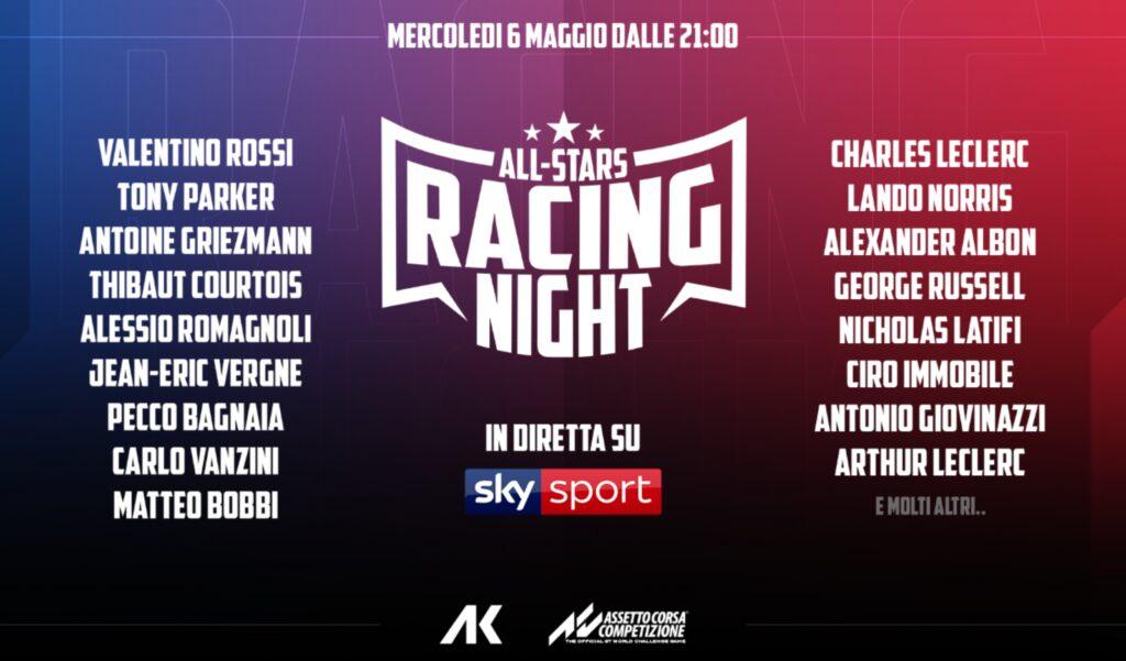All Stars Racing Night: diretta su Sky Sport F1 HD