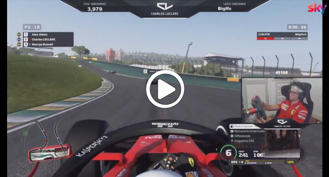 F1   Virtual GP Brasile, la sfida tra Leclerc e Albon [VIDEO]