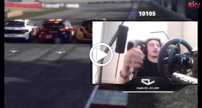 F1   Leclerc al simulatore, la fidanzata resta chiusa fuori casa [VIDEO]