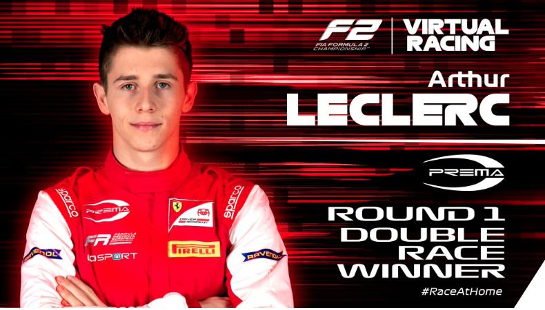 F2 | Arthur Leclerc firma la doppietta nella Virtual Race di Sakhir