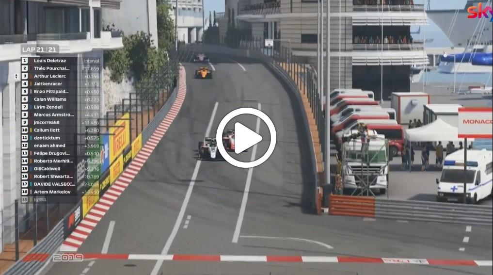 F2 | Virtual GP Monaco, Deletraz vince la Feature Race: l'ultimo giro della gara [VIDEO]