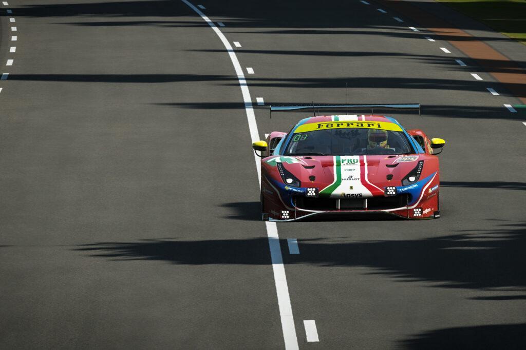 """24h di Le Mans """"virtuale"""" difficile per il team Ferrari"""
