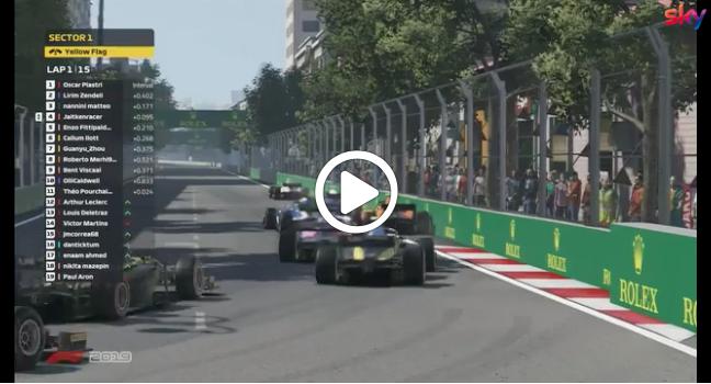 F2   Feature Race, la partenza della prima gara virtuale a Baku [VIDEO]