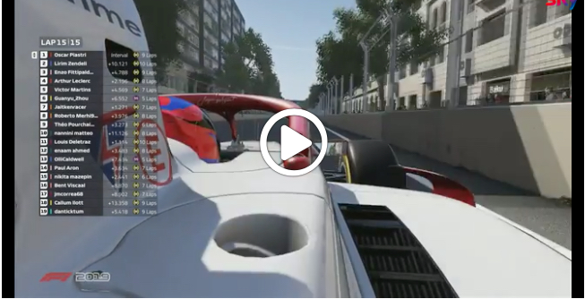 F2 | Virtual GP Baku, l'arrivo della Feature Race [VIDEO]