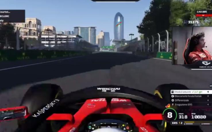 F1   Virtual GP Baku, domenica difficile per Leclerc e Fittipaldi
