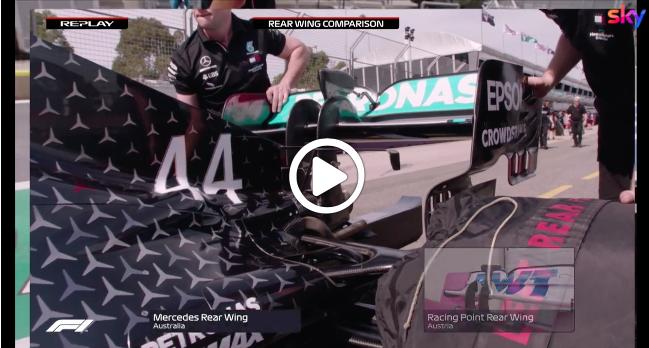F1   Racing Point vs Mercedes: la comparazione dell'ala posteriore [VIDEO]