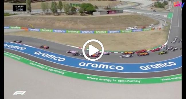F1 | GP Spagna, il primo giro della gara di Barcellona [VIDEO]