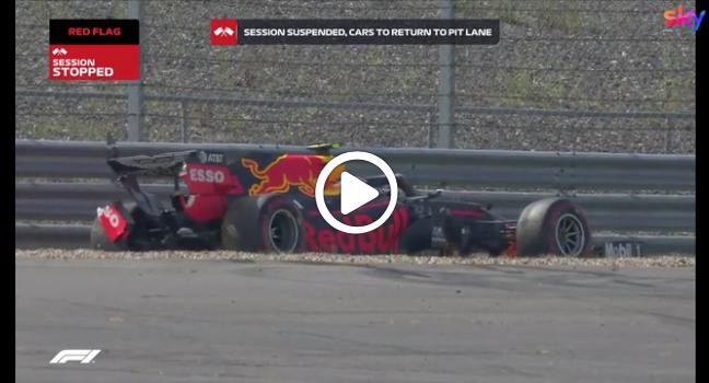 F1 | Albon a muro nelle FP2 di Silverstone [VIDEO]