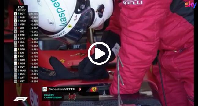 F1 | Vettel rallentato da alcune noie nelle libere di Silverstone [VIDEO]