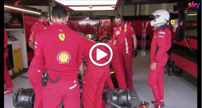 F1   Ferrari, ancora problemi per Vettel nelle FP3 di Silverstone [VIDEO]