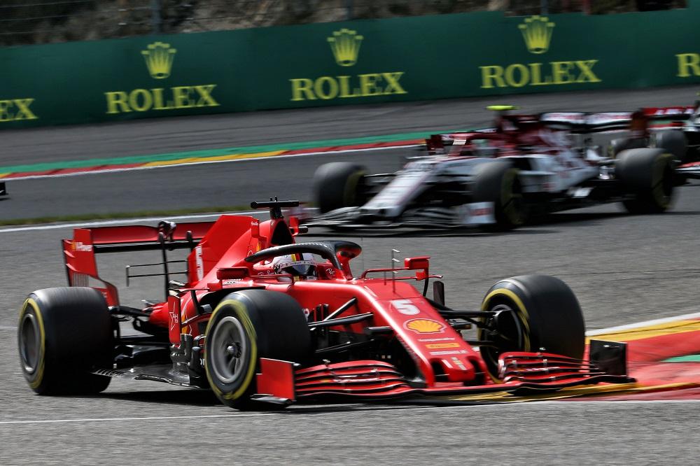 """F1   Vettel ironico sulla prestazione della SF1000 a Spa: """"Con la pioggia avremmo vinto la gara"""""""