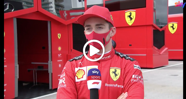 """F1   Leclerc soddisfatto: """"Siamo stati pazienti e questo ha pagato"""" [VIDEO]"""