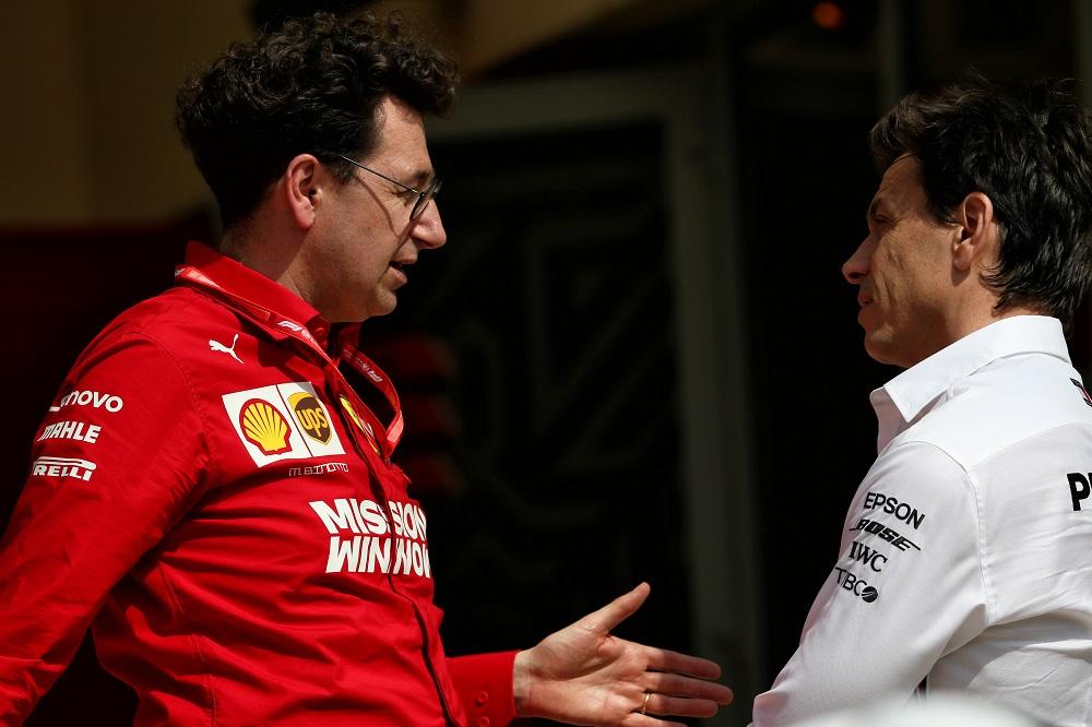 """F1   Ferrari, Binotto: """"Nessun odio nei confronti di Wolff, c'è rispetto e voglia di batterlo"""""""