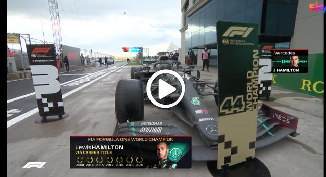 Formula 1 | Hamilton campione in Turchia: il team radio a fine gara [VIDEO]