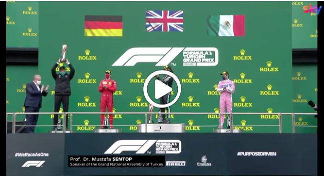 F1   GP Turchia, il podio della gara all'Istanbul Park [VIDEO]