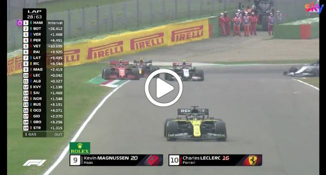 F1 | GP Imola, il sorpasso di Leclerc su Magnussen alla Tosa [VIDEO]