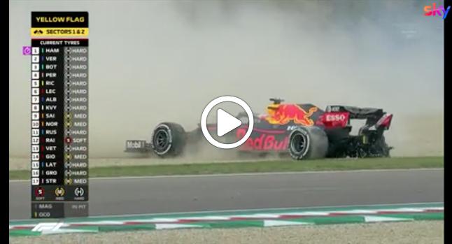 F1   GP Imola, una gomma priva Verstappen di un podio ad Imola [VIDEO]