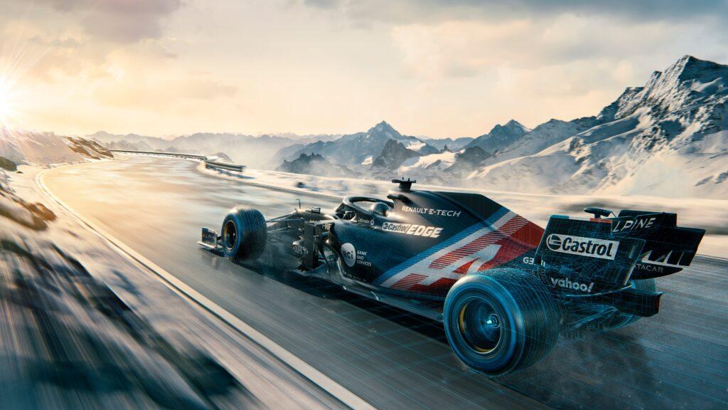 """F1   L'Alpine mostra la """"winter livery"""" della A521"""