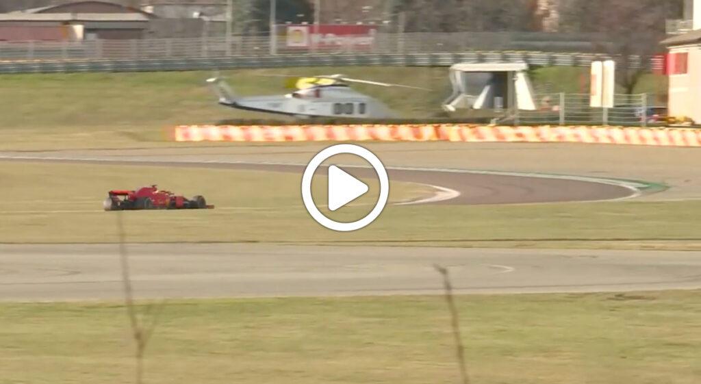 F1 | Sainz, le immagini dei primi giri sulla Ferrari a Fiorano [VIDEO]