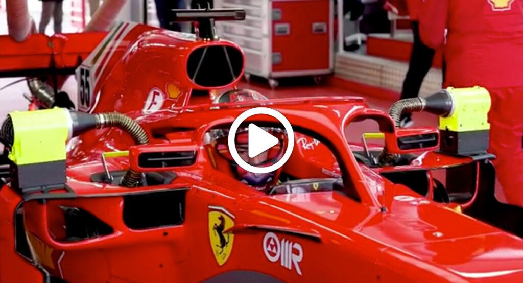 F1 | Sainz in Ferrari: il riassunto della prima giornata a Fiorano [VIDEO]