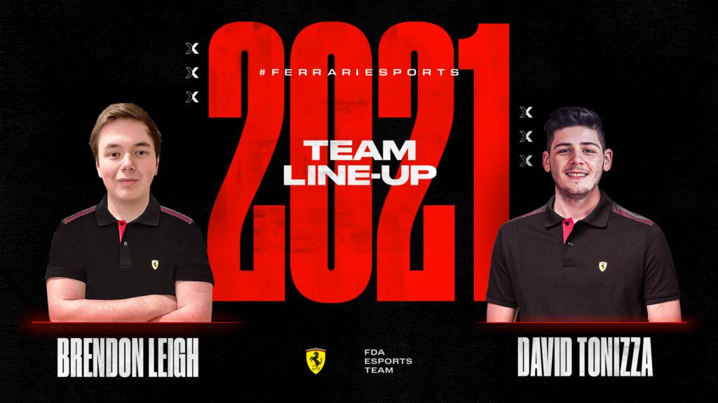 FDA eSport Team: Ferrari conferma Brendon Leigh al fianco di David Tonizza