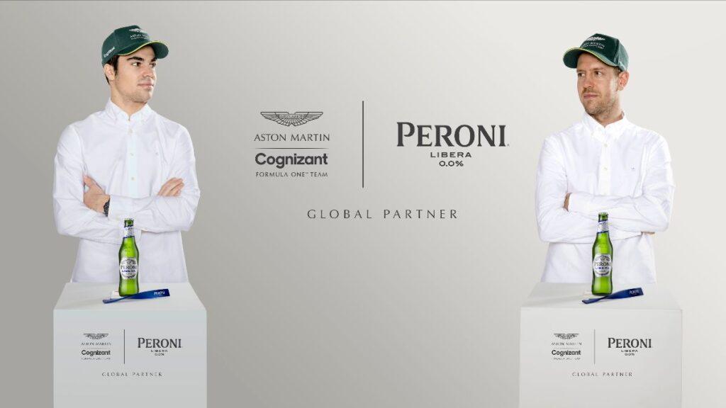 F1   Aston Martin e Peroni Libera 0,0% insieme dal 2021