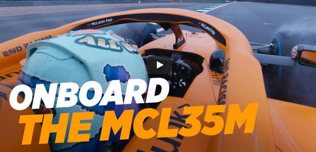 F1   McLaren, il primo onboard di Ricciardo al volante della MCL35M [VIDEO]