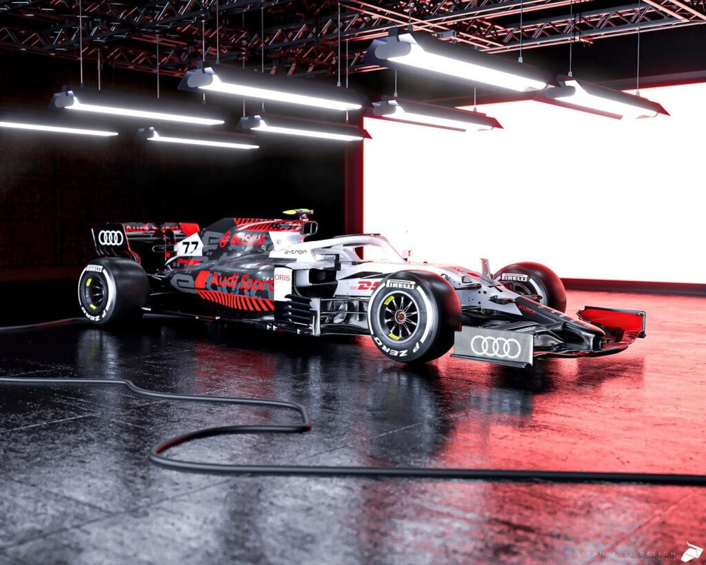 F1 | Audi, Sean Bull immagina la livrea per la stagione 2023 [RENDER]