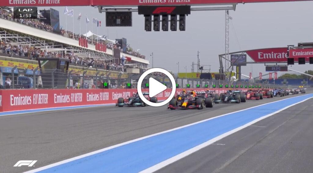 F1 | GP Francia: la partenza e il primo giro della gara a Le Castellet [VIDEO]