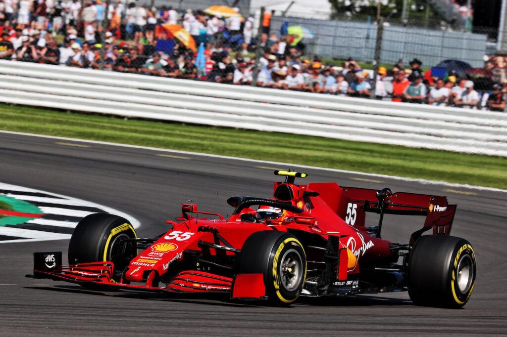 """F1   Ferrari, Sainz sulla gara di Silverstone: """"Avevo il passo per il podio"""""""