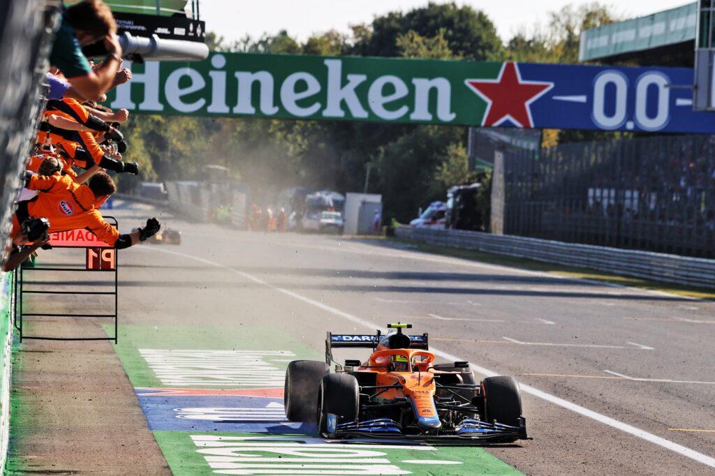 """F1   McLaren, Norris felicissimo: """"Lo abbiamo meritato, non è stata fortuna!"""""""
