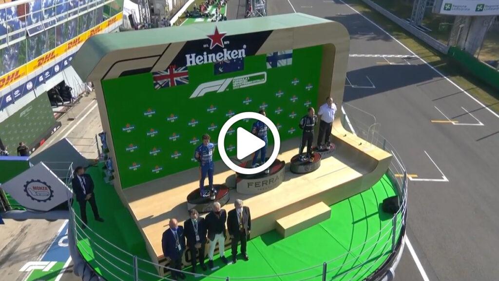 F1 | GP Italia, Ricciardo torna al successo: la festa sul podio a Monza [VIDEO]